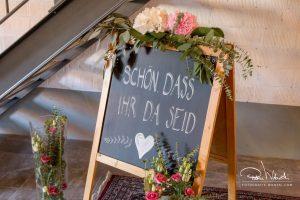 Hochzeitsekoration im Restaurant