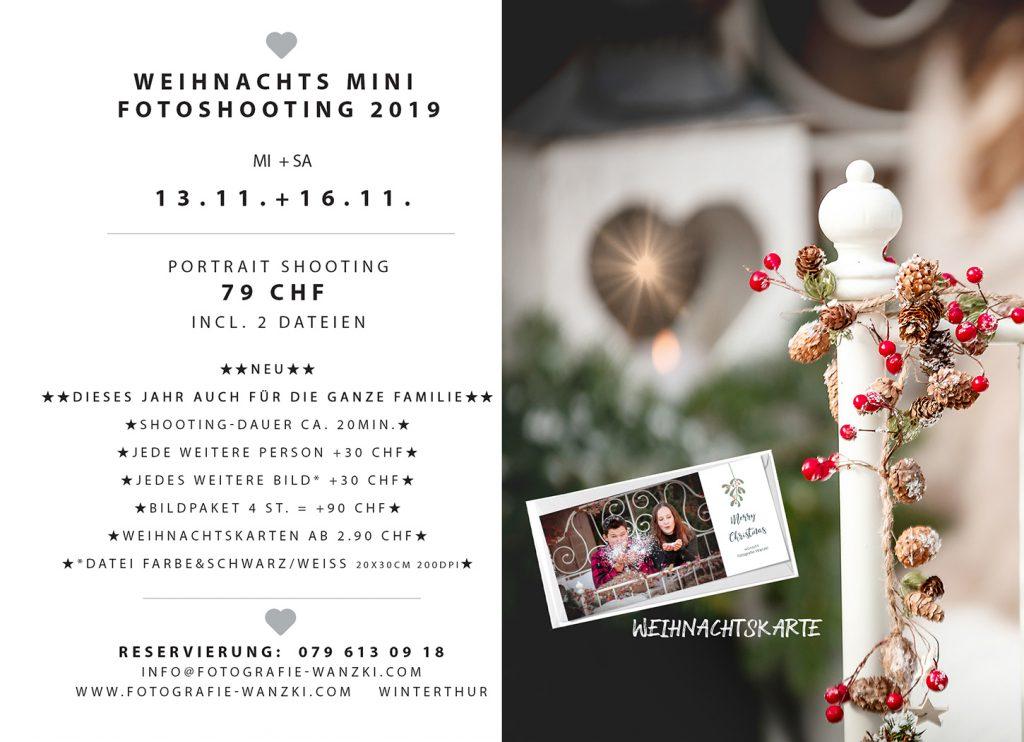 Weihnachts FotoShooting mit Schnee Fotograf Winterthur
