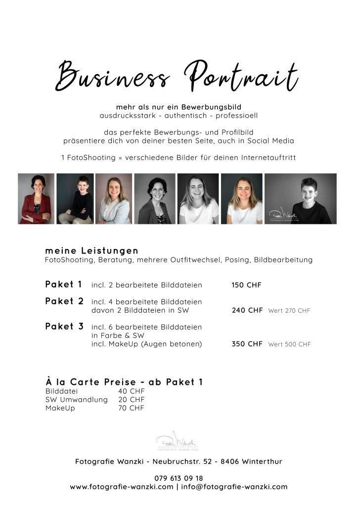 Bewerbungsbild Portrait Business Winterthur Zürich